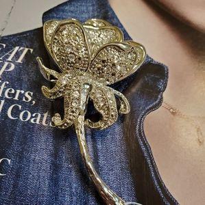 Vintage large silver brooch pin EUC